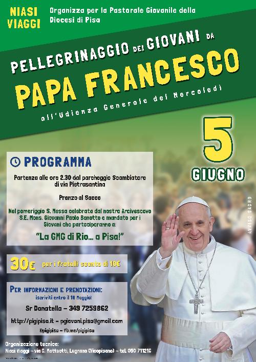 Pellegrinaggio Giovani da Papa Francesco